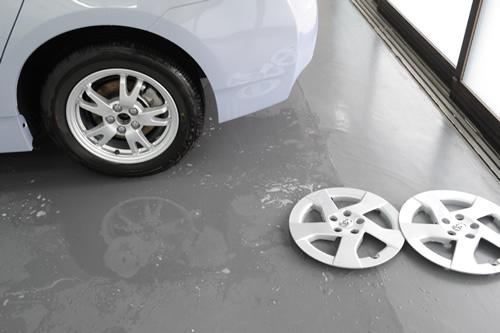 プリウス車磨きガラスコーティング