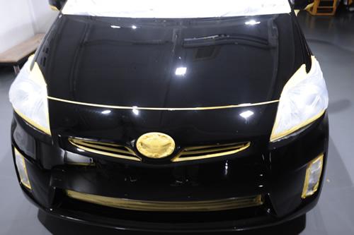 プリウス車磨きガラスコーティングの施工画像集