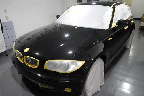 BMW116i車磨きガラスコーティングの施工画像集