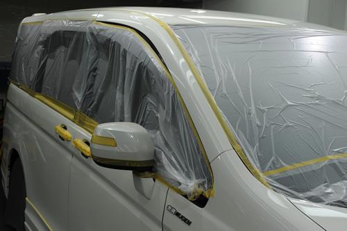 ステップワゴンスパーダ磨きガラスコーティングの施工画像