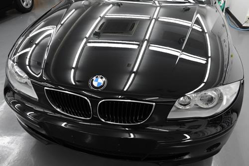 BMW116i磨きガラスコーティングの施工画像
