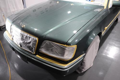 W124E280メルセデスベンツ磨きガラスコーティング施工画像