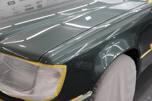 メルセデスベンツW124磨きガラスコーティング施工画像