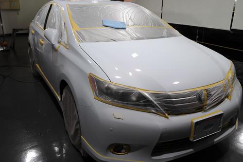 レクサスHS250h磨きガラスコーティング施工画像