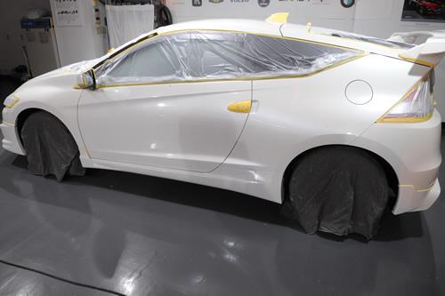 CR-Z磨きガラスコーティングの施工画像