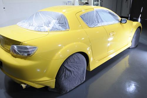 RX-8磨きガラスコーティング施工画像