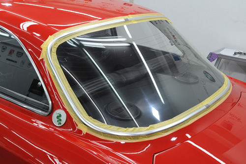 アルファロメオ Alfa Romeo 2000GTV ガラスコーティング 施工画像
