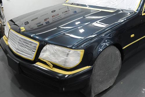 W140 メルセデス ベンツ 施工画像