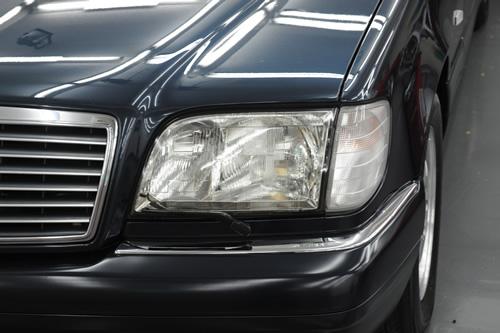 W140 S500L ガラスコーティング 施工画像