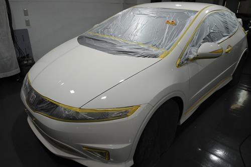 ホンダ HONDA シビックタイプR ガラスコーティング施工画像
