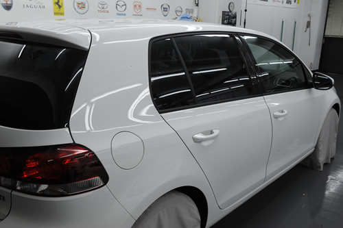VW ゴルフ6 ガラスコーティング 施工画像