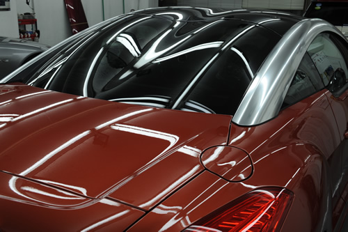プジョー Peugeot RCZ 磨きガラスコーティング 施工画像