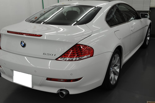 BMW 630 磨き修復施工画像