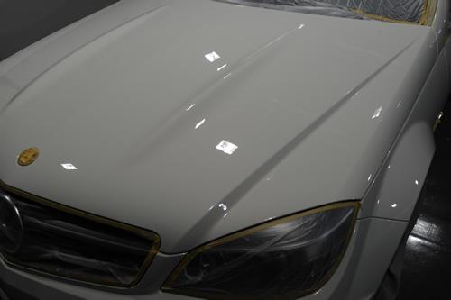 C63AMG 磨きガラスコーティング 画像