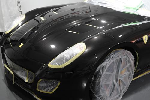 フェラーリ Ferrari 599GTO磨きガラスコーティングコーティング施工画像