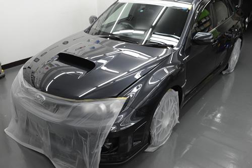 インプレッサ WRXSTi 磨きガラスコーティング画像