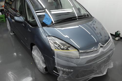 シトロエン ピカソ C4 磨きガラスコーティング画像