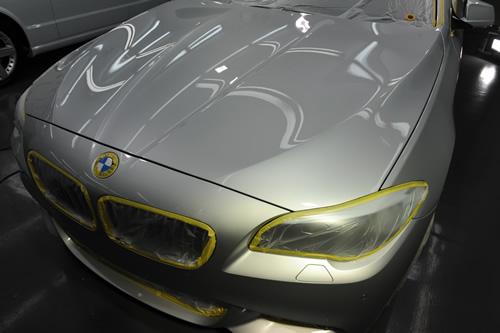 BMW523ツーリング磨きガラスコーティング画像