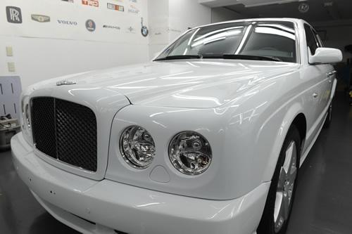 ベントレー Bentley アルナージT磨きガラスコーティング画像