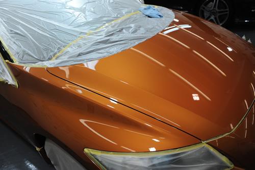 ホンダ CR-Zガラスコーティング磨き施工画像