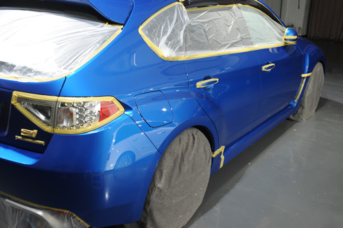 インプレッサWRXSTi磨きガラスコーティング画像