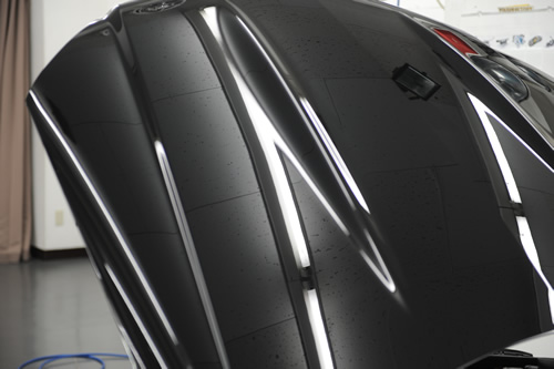 AMG C63 磨きガラスコーティング画像