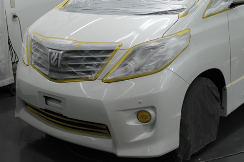 トヨタ TOYOTA アルファード ガラスコーティング  施工画像