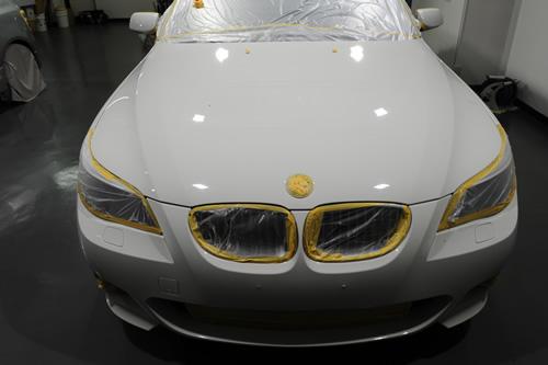 BMW E60 525 ガラスコーティング 施工画像