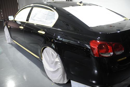 レクサスGS350磨きガラスコーティング画像