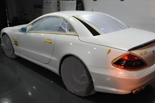 AMG R230 SL55 ガラスコーティング  施工画像