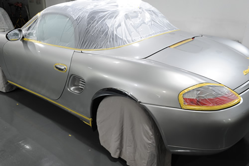 ポルシェ Porsche ボクスター ガラスコーティング 施工画像
