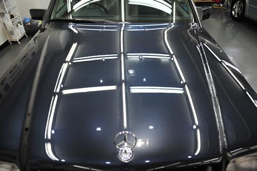 W124 E320T 磨きガラスコーティング