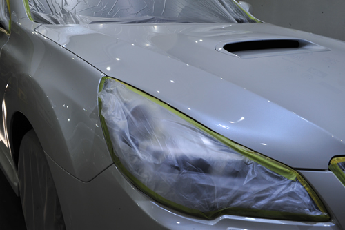 レガシィワゴンDTI磨きガラスコーティング画像