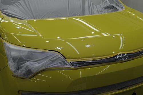 トヨタスペイド|ボディーガラスコーティング画像
