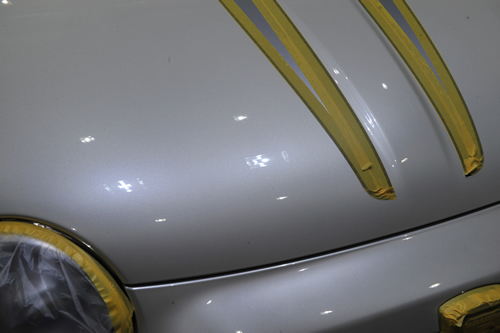 アバルト 695 トリブートフェラーリ|磨きボディーガラスコーティング