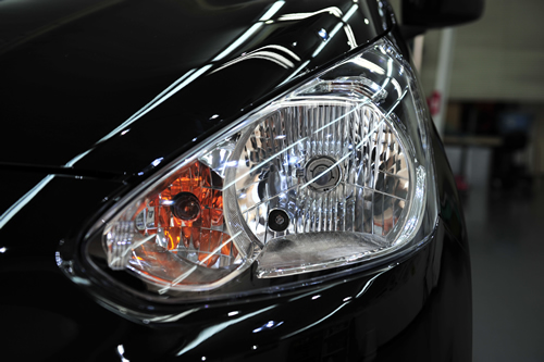 三菱ミラージュ|新車磨きボディーコーティング画像