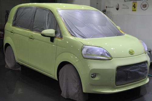 トヨタポルテ|車磨きコーティング画像