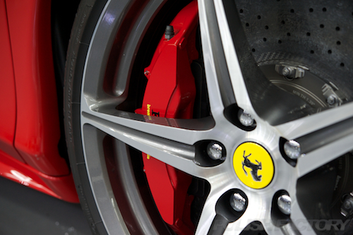 フェラーリFerrari458イタリアスパイダー|ガラスコーティング施工画像