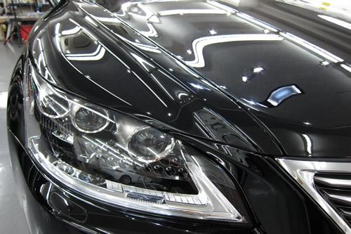 レクサスLS600h|磨きボディーガラスコーティング画像