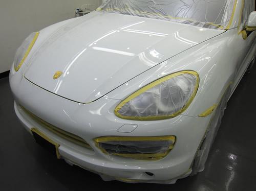 ポルシェ Porsche カイエン|ボディーガラスコーティング画像