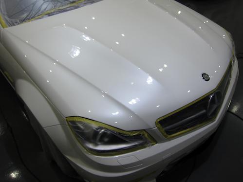 C63AMGガラスコーティング画像