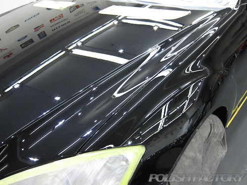 メルセデスベンツS550|磨きガラスコーティング画像
