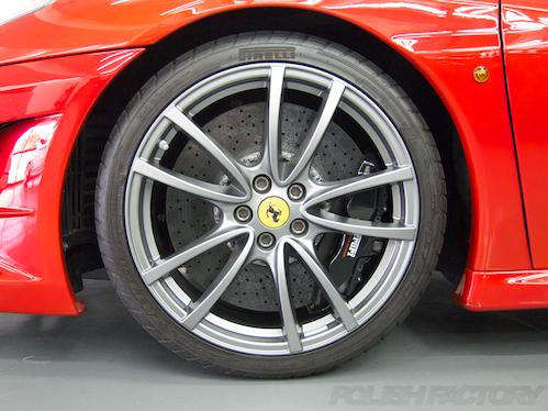 FerrariフェラーリF430スクーデリアガラスコーティング施工画像