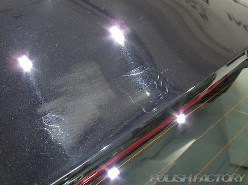 ボルボV40磨きガラスコーティング画像