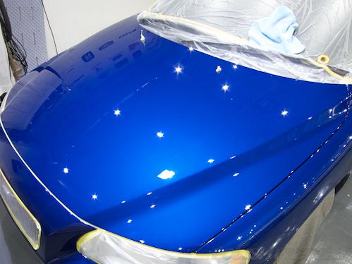 ボルボV70磨きガラスコーティング画像