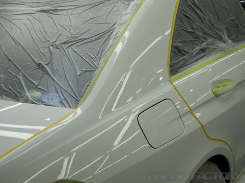 ベンツE250アバンギャルドのガラスコーティング施工画像
