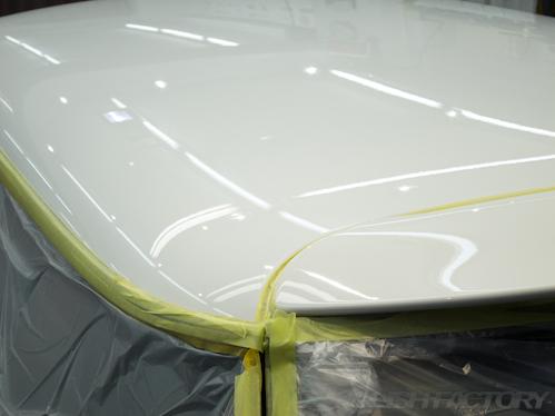 ミニクーパーSパークレーン_磨きガラスコーティング