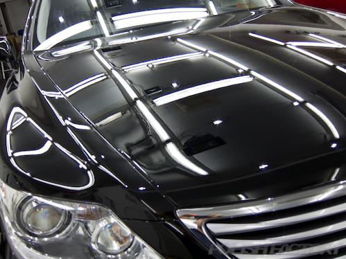 レクサスLS460_磨きガラスコーティング画像