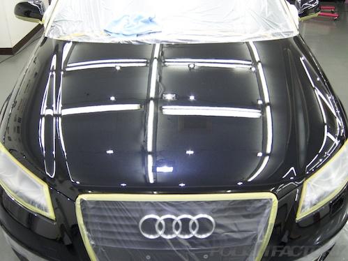 アウディA3スポーツバック_磨きガラスコーティング画像