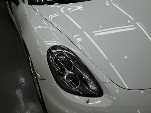 ポルシェボクスター_磨きガラスコーティング画像